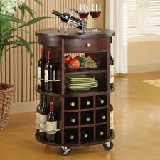 Portable Bar Cabinet Furniture Black Expresso Portable Home Bar Cabinet With Wine