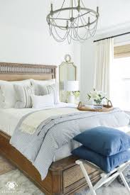 bedroom one room challenge blue and white guest bedroom reveal