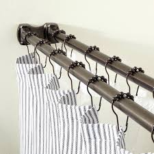 Oil Rubbed Bronze Shower Curtain Rod Lotebox Page 2 Shower Curtain Rod Bronze Images Clear Hookless