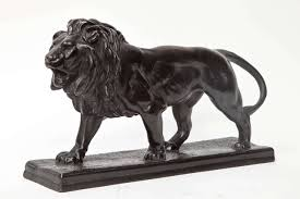barye lion sculpture late 19th century bronze lion sculpture by antoine louis barye at
