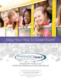 paragon crt contact lens international certification u0026 resource