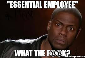 Employee Meme - essential employee what the f k meme kevin hart the hell 19195