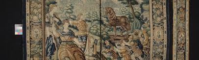 taking down the yellow bedroom tapestries doddington hall