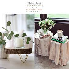 contemporary farmhouse style west elm knock offs with contemporary farmhouse style the