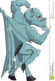 gargoyle cartoon halloween clipart halloweens vector images happy