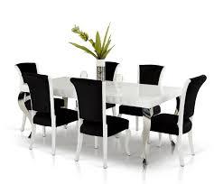 versus mia u0026 seema modern white u0026 black dining set