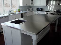 stainless steel countertop with sink entrancing kitchen with stainless steel counter tops as well as cast