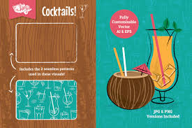 cocktail party vector illustrations by wingsart thehungryjpeg com