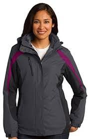 port authority women u0027s waterproof colorblock 3 in 1 jacket at
