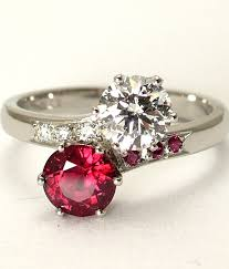 engagement ruby rings images 2 stone ruby diamond ring two stone engagement ring jpg