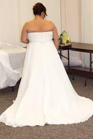 wedding dresses size 18 david s bridal chiffon empire waist plus size dress size 18