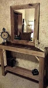diy entryway table plans diy entry table pallet console table diy rustic farmhouse entryway