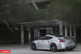slammed nissan 370z nismo edition nissan 370z put on vossen custom wheels u2014 carid com