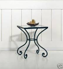 small wrought iron table new wrought iron l side table bedside glass top hierro forja
