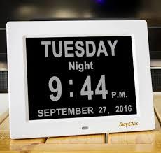 amazon com dayclox updated memory loss digital calendar day clock
