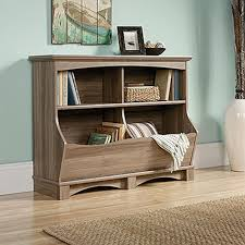 Sauder Harbor View Computer Desk With Hutch Salt Oak by Sauder Harbor View Salt Oak Bin Bookcase 420327 The Home Depot
