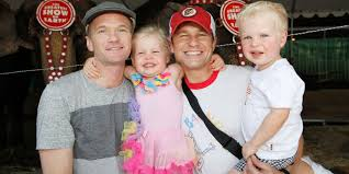 celebrity family halloween costumes neil patrick harris and family dress as batman characters for
