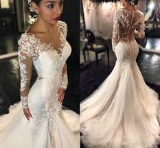 sexxy wedding dresses 2018 mermaid wedding dresses v neck wedding gowns with lace