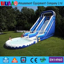 40ft giant inflatable water slide with pool for and kids