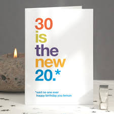 30th birthday delivery 30th birthday card imperfect seconds sarcastic 30th