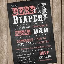 beer and diaper dad baby shower invitation chalkboard