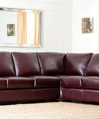 Abbyson Sectional Sofa Abbyson Living Premium Rubbed Leather Sectional Sofa
