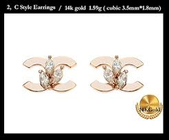 real earrings qoo10 14k earrings real gold big sales jewelry