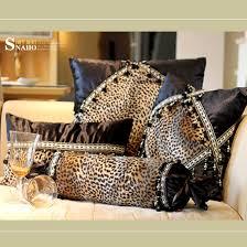 Modern Cushions For Sofas Modern Leopard Print Sofa Cushion Cushion Cover 3pcs Set