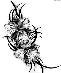 tribal flower tattoo picture 3508 this in color mixed with a