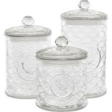 perfect glass canister sets for kitchen chalk painted shabby chic