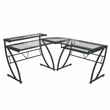 L Shaped Glass Desks Z Line Feliz Glass L Shaped Desk Zl1441 2du