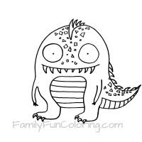 monster coloring pages familyfuncoloring