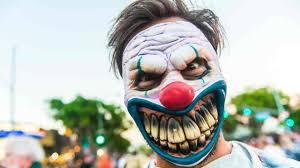 creepy clown in california scared off after man fires gun into air