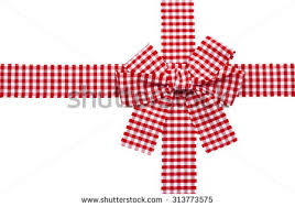 checkered ribbon gift checkered ribbon bow isolated stock photo 313773575