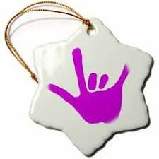 sign language ily snowman ornament buyasl http www