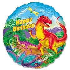 nyc balloon delivery dinosaur party happy birthday mylar party balloon 18 inch inflated