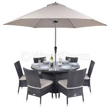 Glass Dining Table 6 Chairs 6 Seater Round Glass Dining Table Round Dining Table W 6 Chairs