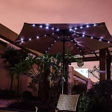 Patio Umbrellas With Led Lights Best Solar Patio Lights Ebay