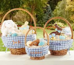 kids easter baskets blue plaid easter basket liners pottery barn kids