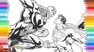 coloring pages superman man steel brainiac 2 5 53