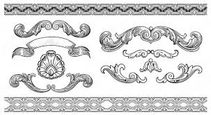 vintage ornaments with frames vector vector frames borders