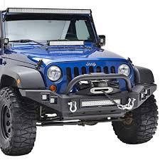 Jeep Led Lights E Autogrilles Jeep Wrangler Jk Full Width Front Bumper With Led