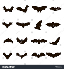 Halloween Silhouettes by Big Set Black Silhouettes Halloween Bats Stock Vector 491841091