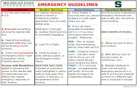 Fire Evacuation Floor Plan Emergency Response Plan Erickson Hall College Of Education