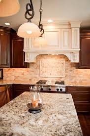 travertine backsplash design over stove affordable design