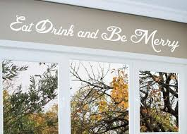 eat drink and be merry wall decal 0006 kitchen wall decals