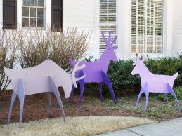 Lighted Santa And Reindeer Outdoor by Make Easy To Store Holiday Yard Reindeer Hgtv