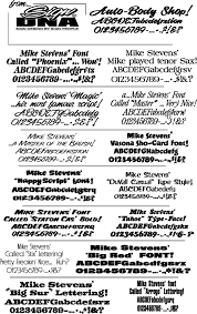 mike stevens sign painted script fonts from beacon graphics llc