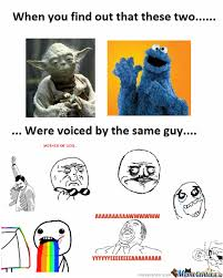 Cookie Monster Meme - yoda and cookie monster by navarro3k10 meme center