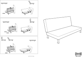 IKEA Chairs EXARBY SOFA BED FRAME PDF Assembly Instruction Free - Sofa bed assembly